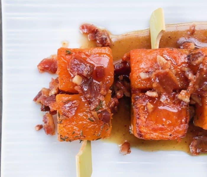 Maple Bacon Butternut Squash Skewers