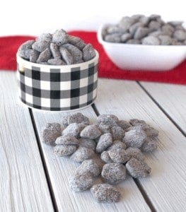 The best muddy buddy recipes aka puppy chow. Easy and delicious using only 3 ingredients without peanut butter! Crispix or chex mix is used. A kid friendly recipe that is great for parties or the holidays. #holidays #sweettreat #puppychow #muddybuddy