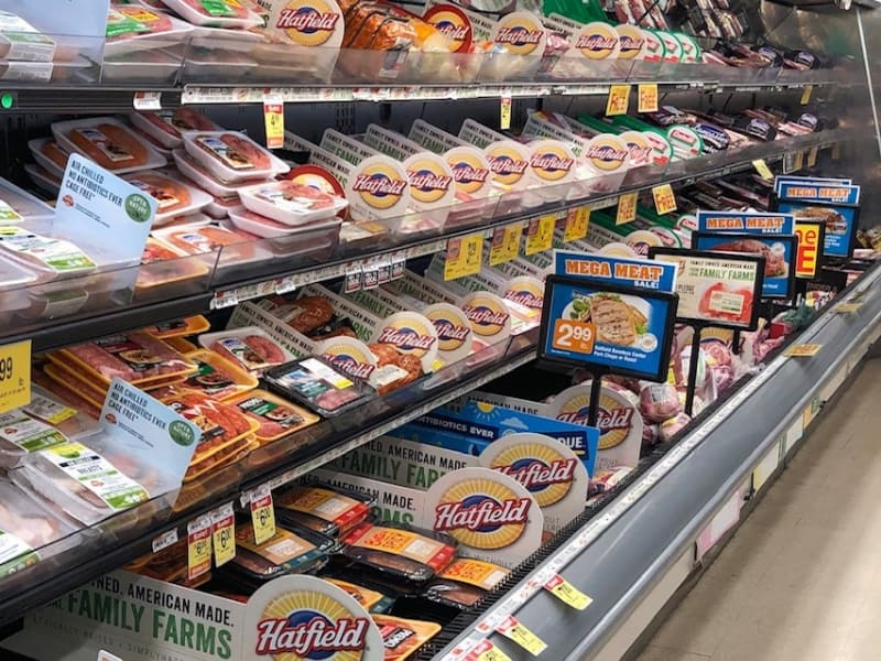 Hatfield pork in the grocery store