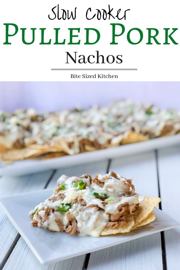 The best crockpot pulled pork nachos recipe. Easy to make and topped with Hatfield's Texas Smokehouse Pork Roast which is pre-marinated! Pork tenderloin and homemade queso makes this a healthy alternative to enjoying those restaurant nachos we have all come to love. #ad #biggamewithhatfield #simplyhatfield #crockpot #nachos #queso #pork