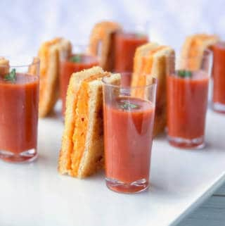 BAKED Grilled Cheese Sticks (with Tomato Soup)