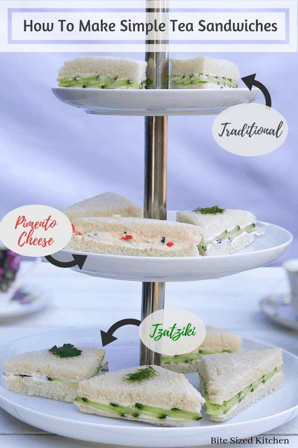 Fun finger sandwiches for a brunch, baby shower or bridal shower party. Easy and simple presentation. How to display and how to cut your cucumber sandwiches. #fingerfood #teasandwich #teaparty #fancy #brunch