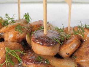 chicken sausage apple skewered bites appetizer