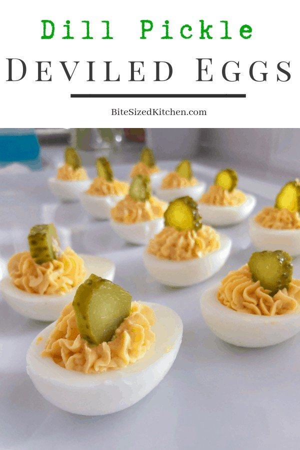 A classic easy recipe for how to make deviled eggs. Boiling eggs, how to pipe them and presentation. Easy peel egg technique! #eggs #classic #pickles