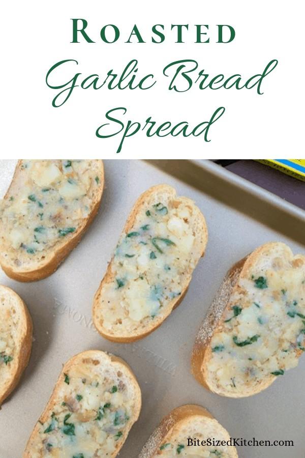 Homemade garlic spread with roasted garlic.