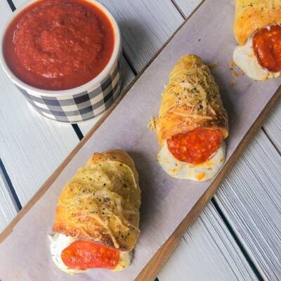 EASY Pepperoni Pizza Cones Recipe (with ricotta)