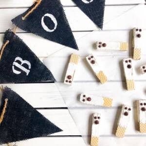 Easy Chocolate Wafer Dipped Ghost Cookies