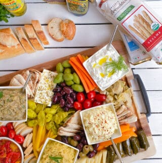 Greek spread with small plates