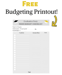 free party budgeting printable
