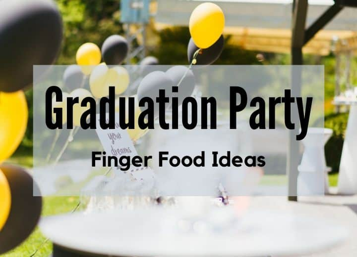 "graduation party with yellow and black balloons and text overlay saying ""graduation party"""