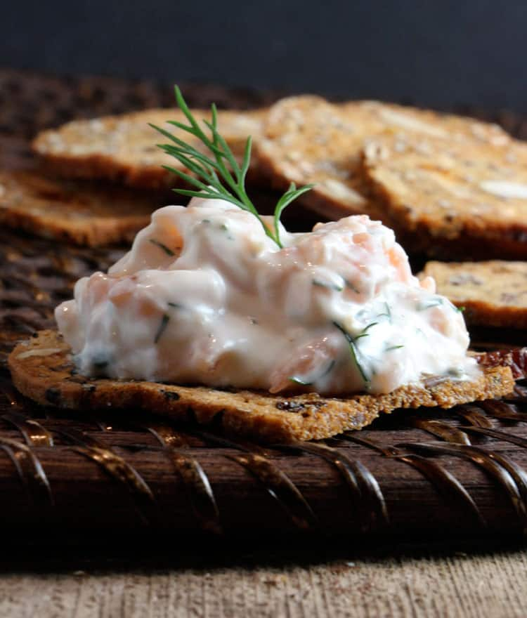 cold dill spread on crackers