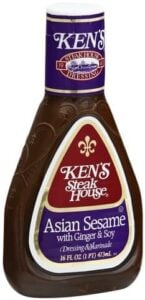 bottle of Ken's steakhouse sesame dressing