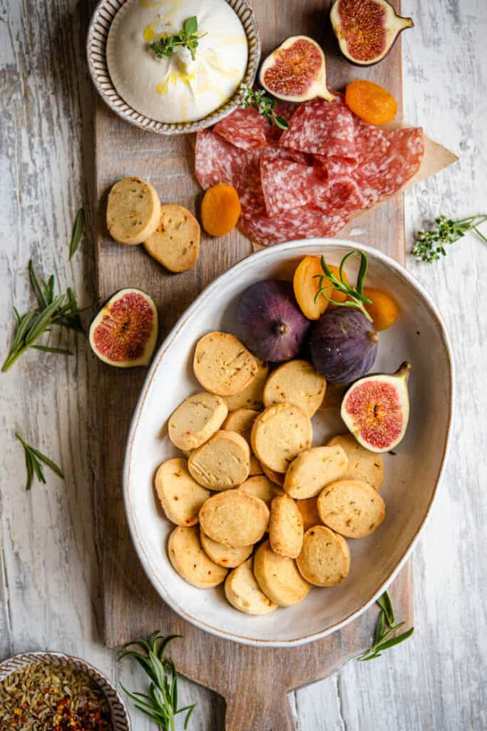 baked savory shortbread biscuits appetizer