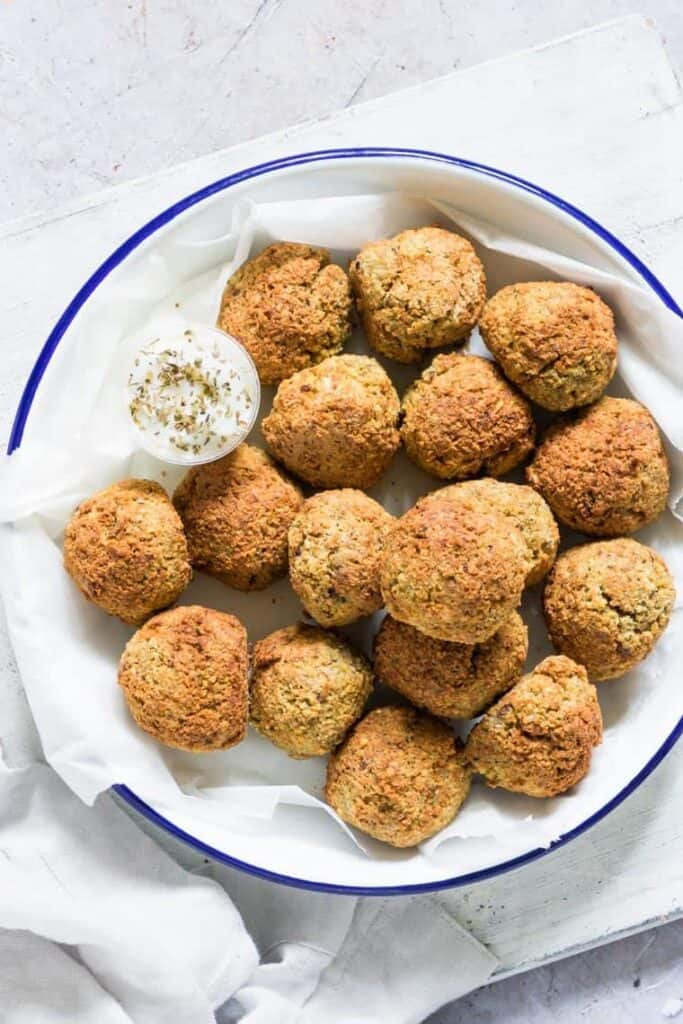 bite sized falafel appetizer