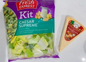 caesar salad kit with parmesan cheese