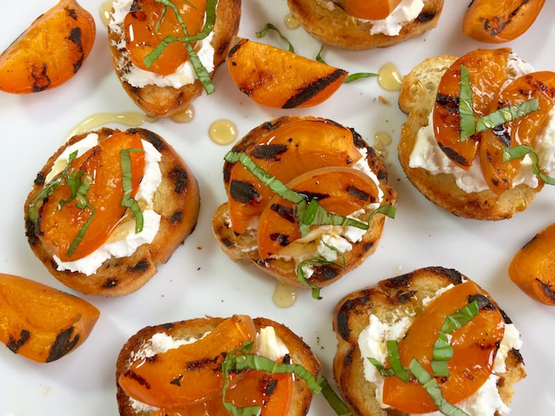 easy apricot and honey crostini appetizer