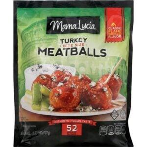 frozen turkey meatballs in a bag.