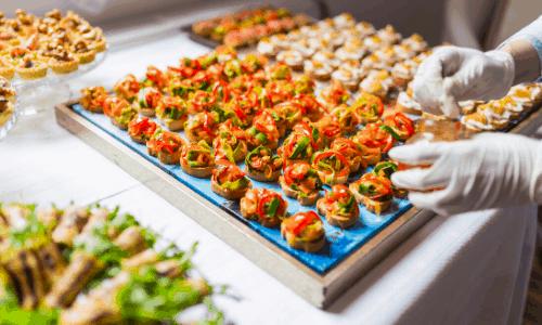 a buffet of fancy finger food ideas
