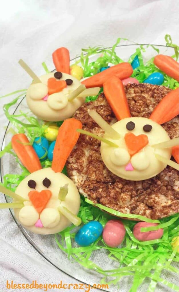 babybel easter bunny appetizer using cheese.