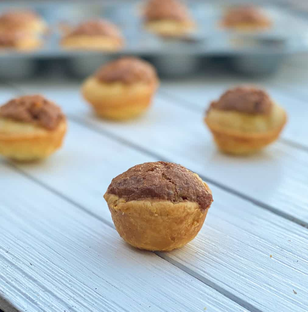 pecan tassie cookies on table