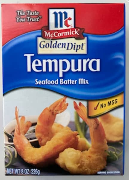 boxed tempura mix