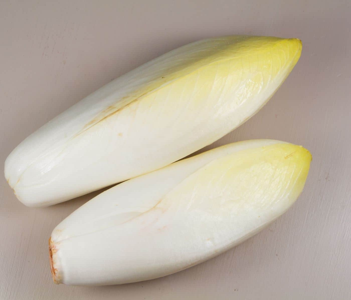 two endive heads.
