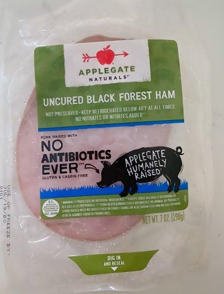 applegate black forest ham in package