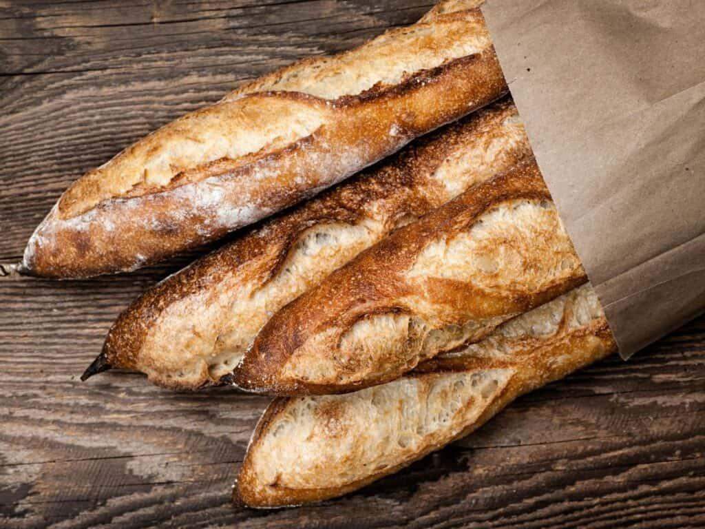 Crusty Italian baguettes.