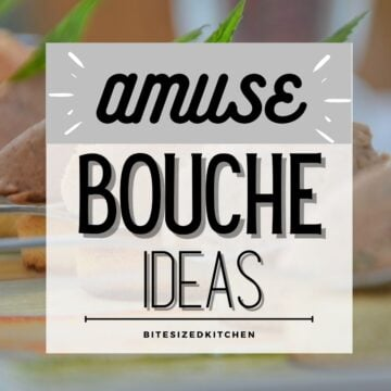 Amuse bouche recipe ideas.