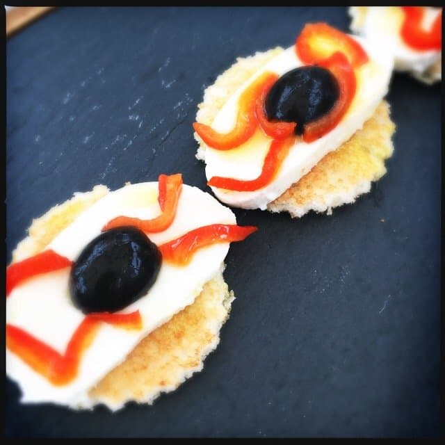 crostini with eye balls