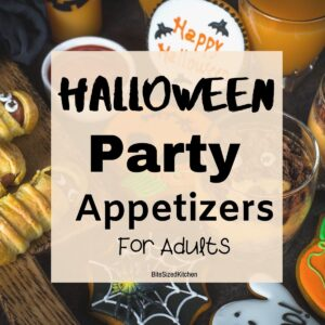 halloween party appetizers on a table