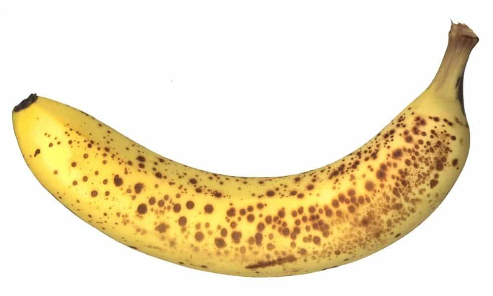 ripe brown banana for banana walnut muffins