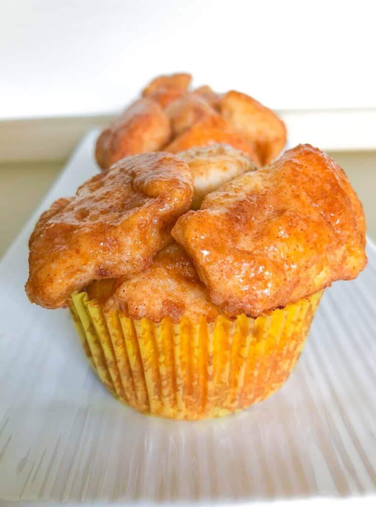 monkey bread muffin on a plate