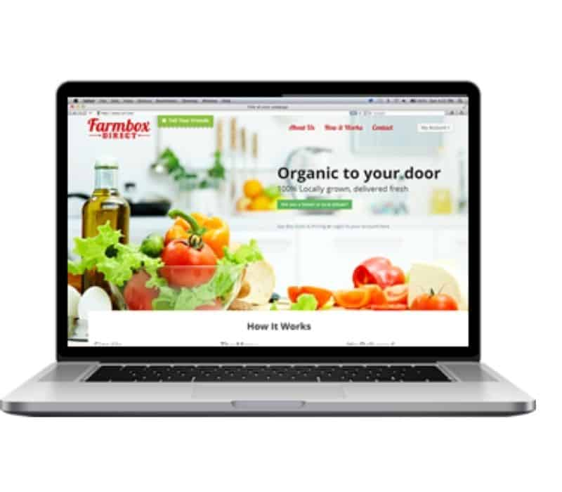 computer screen showing how to order from farmbox direct.
