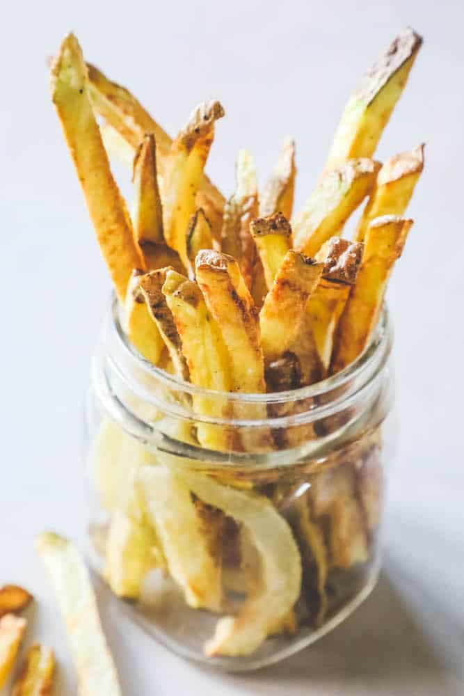 french fries is a jar