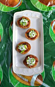 potato skins stuffed with pork