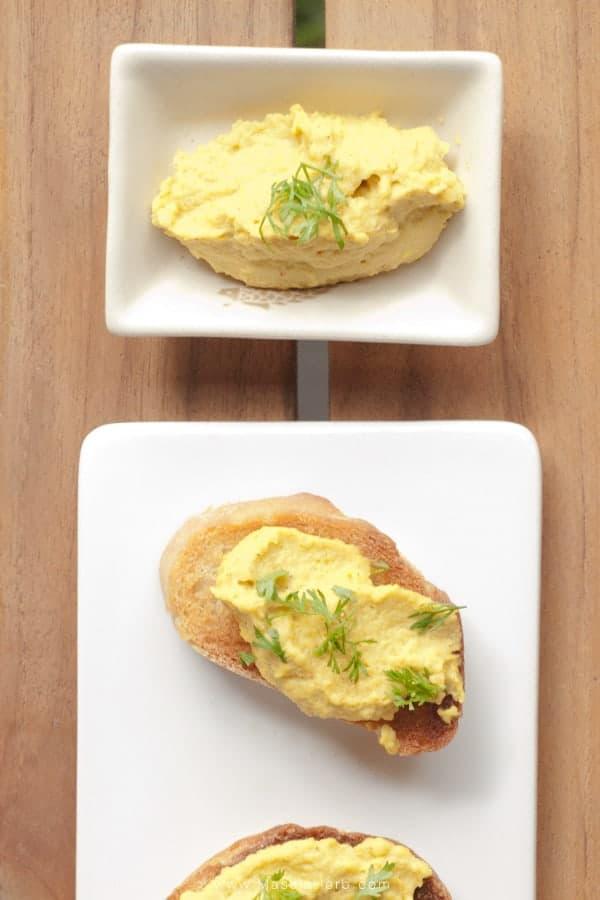spicy avocado crostini.