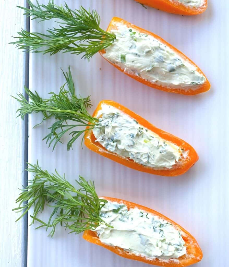 stuffed orange carrots for Easter party.