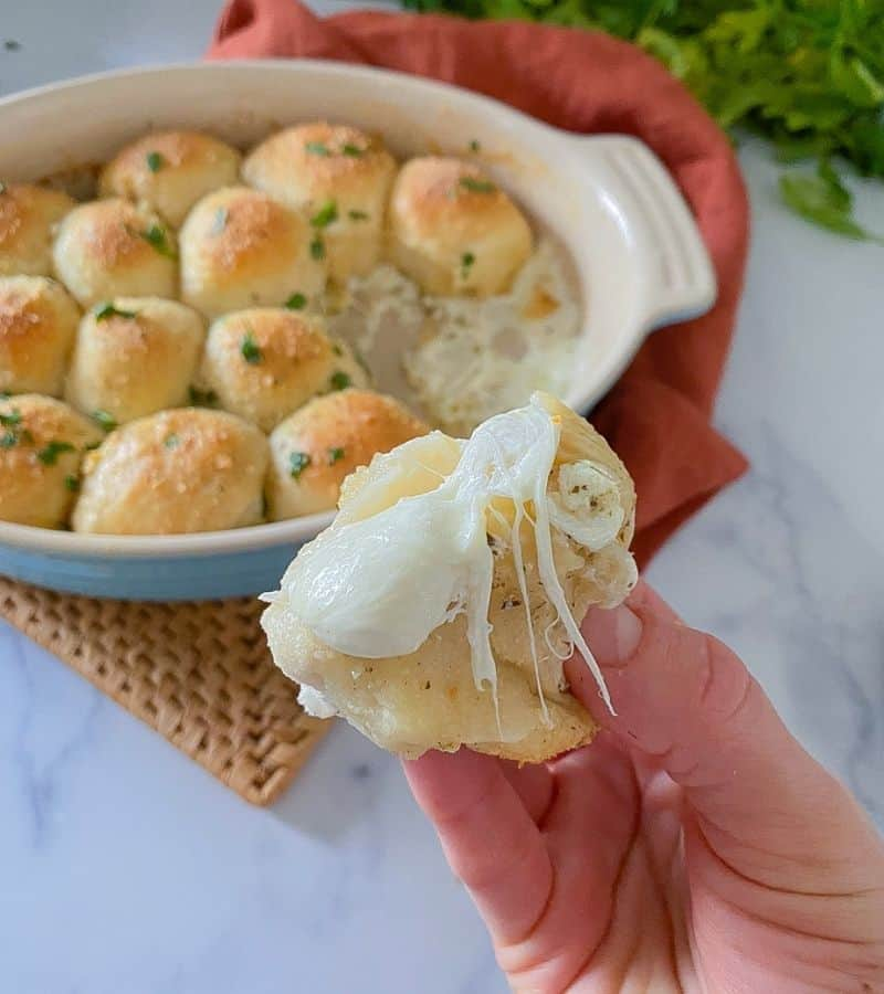 finger food biscuits stuffed with cheese.