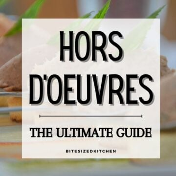 hors d'ouvres on a table.