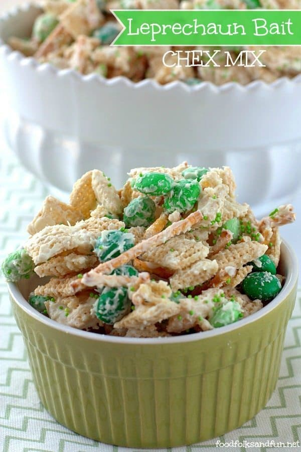 Leprechaun green chex mix recipe.